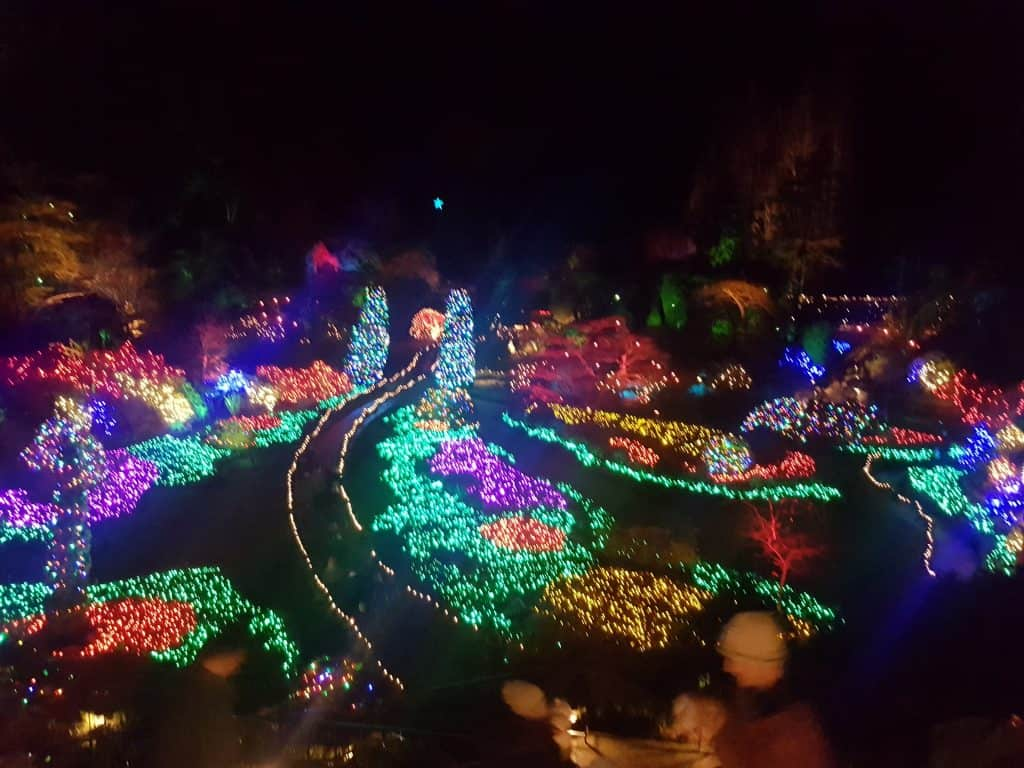 Butchart Gardens winter display