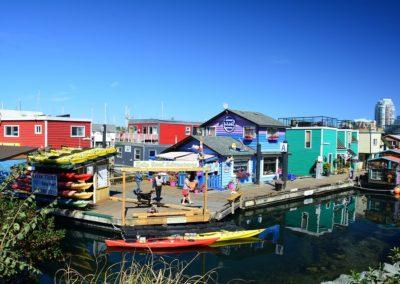 Jewel colored homes on Fisherman's wharf